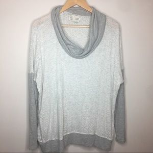 Anthro Saturday Sunday Long Sleeve cowl Neck Top L
